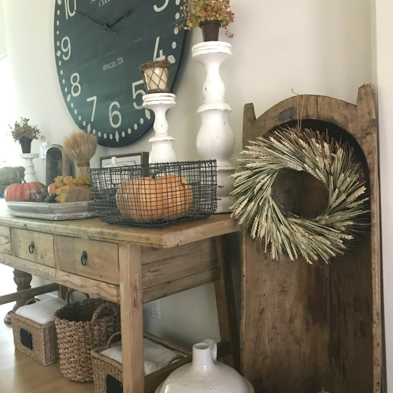 decorate for fall with farmhouse elements