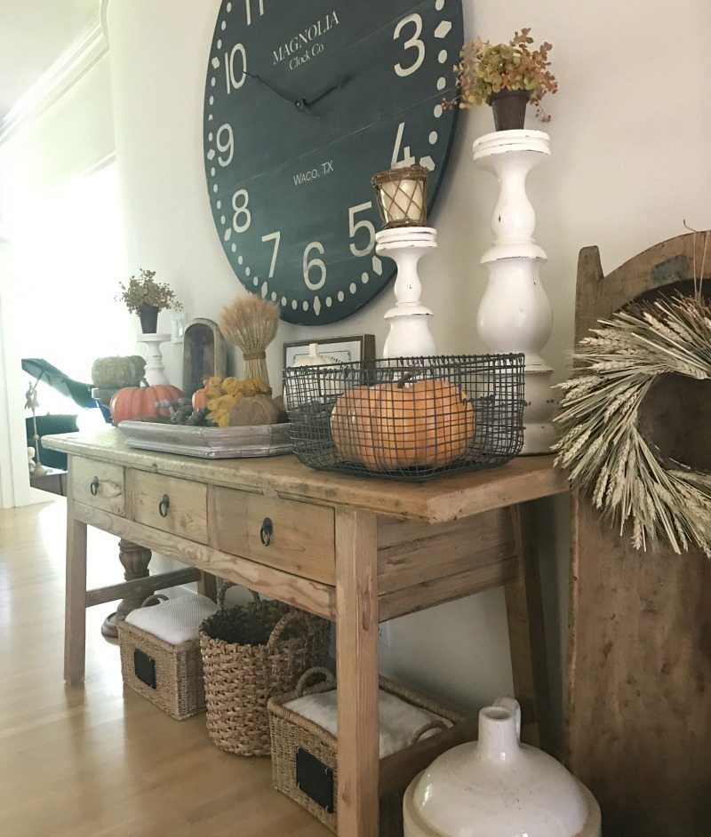 Decorate for Fall farmhouse elements