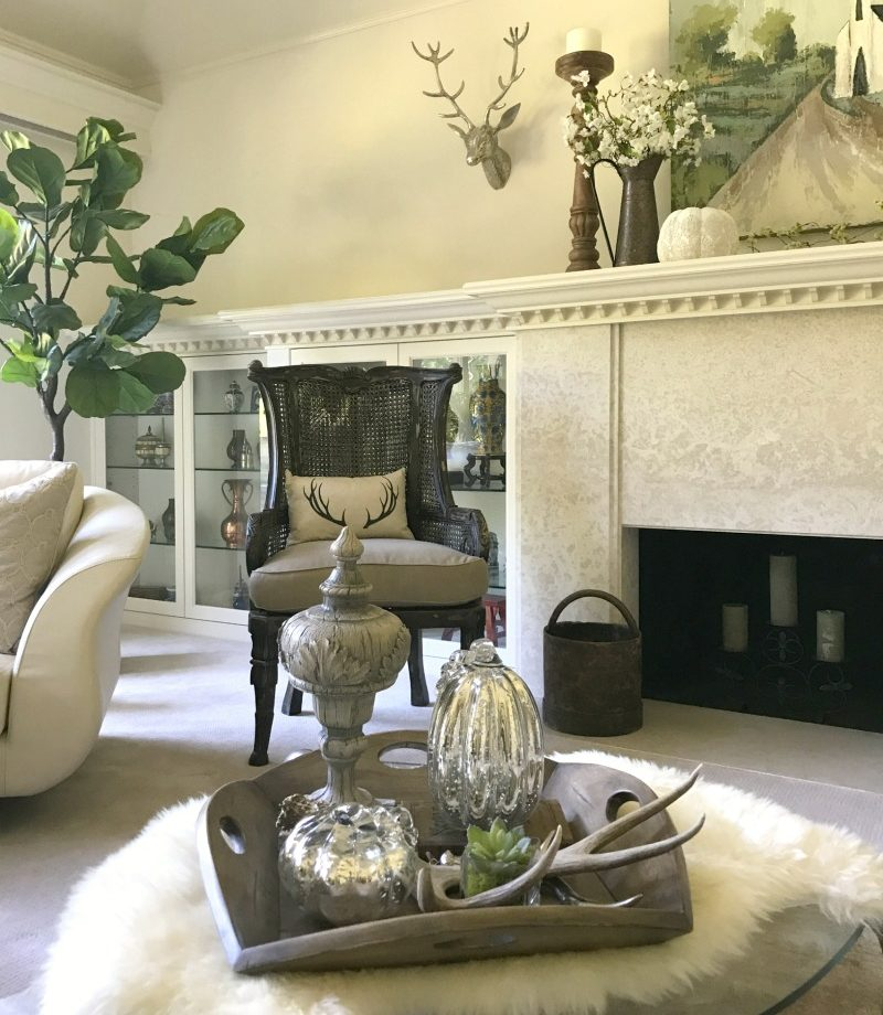 decorate for fall with neutral and rustic elements