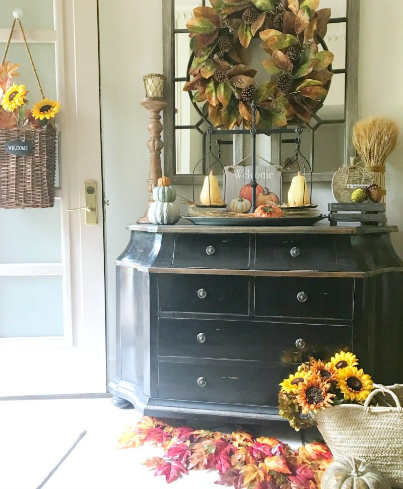 decorate for fall hall entryway decoraing