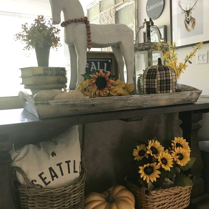 decorate for fall with color and warm tones