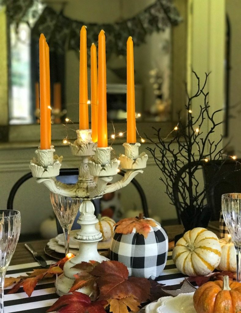 Magical and fun halloween tablescape and decor
