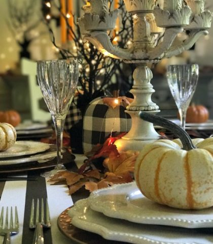 Create Halloween Tablescape magic