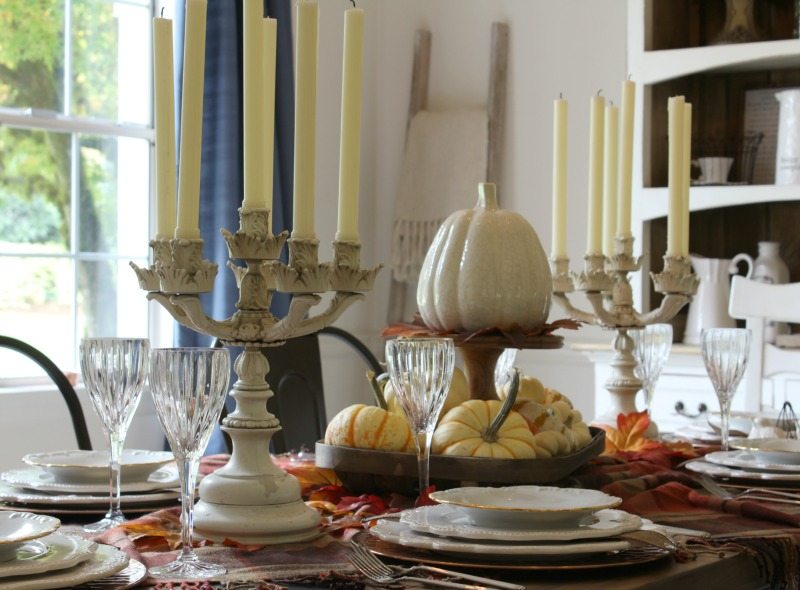 glamorous thanksgiving table