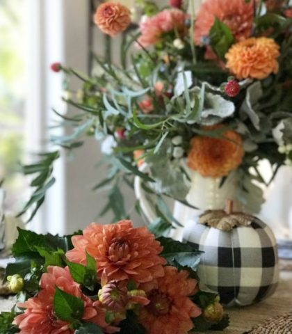 Floral Fall Decor