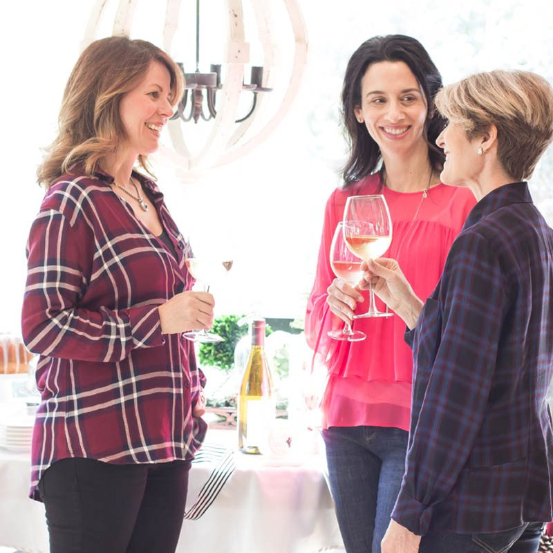 winning hostess tips with good company and Wente Vineyard Wines