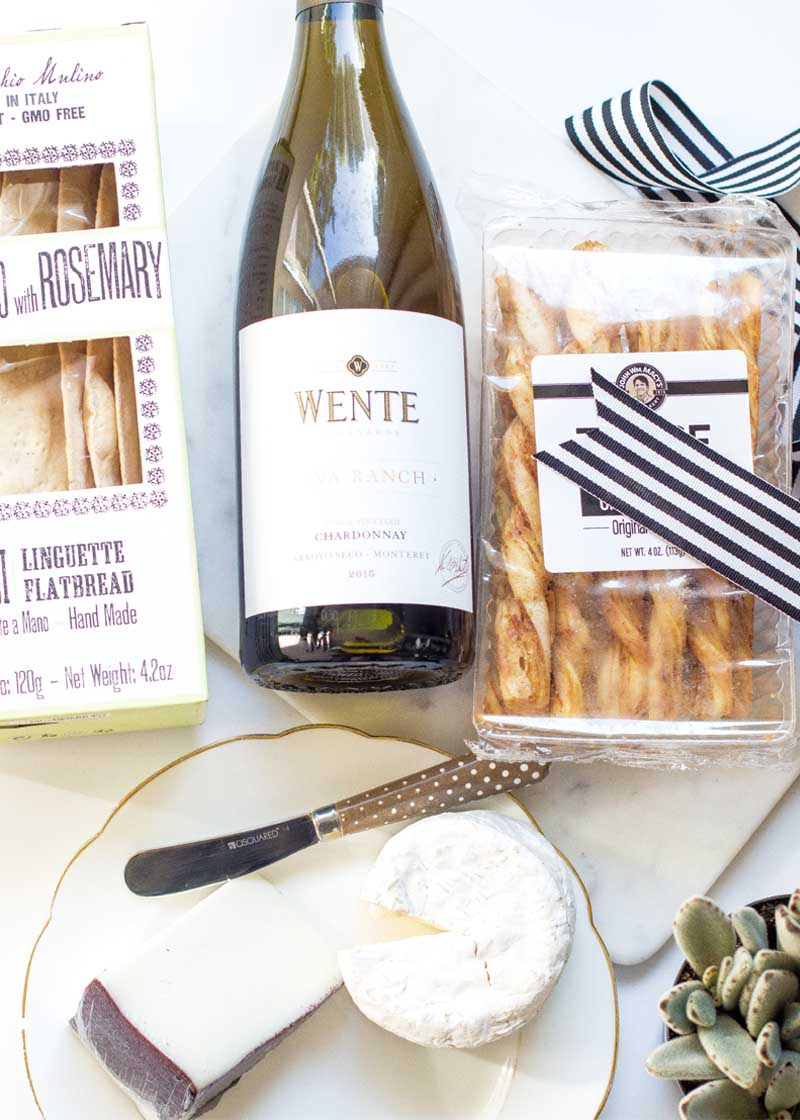 Wente Wines and entertaining ideas with crackers and cheese