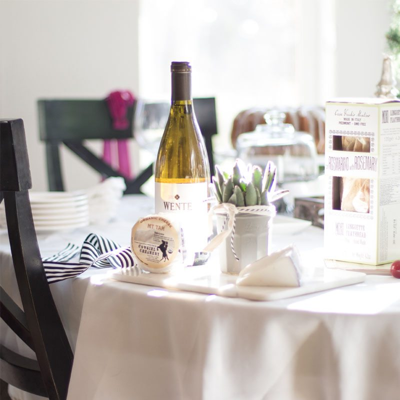 winning hostess with Wente Wines and holiday table settings