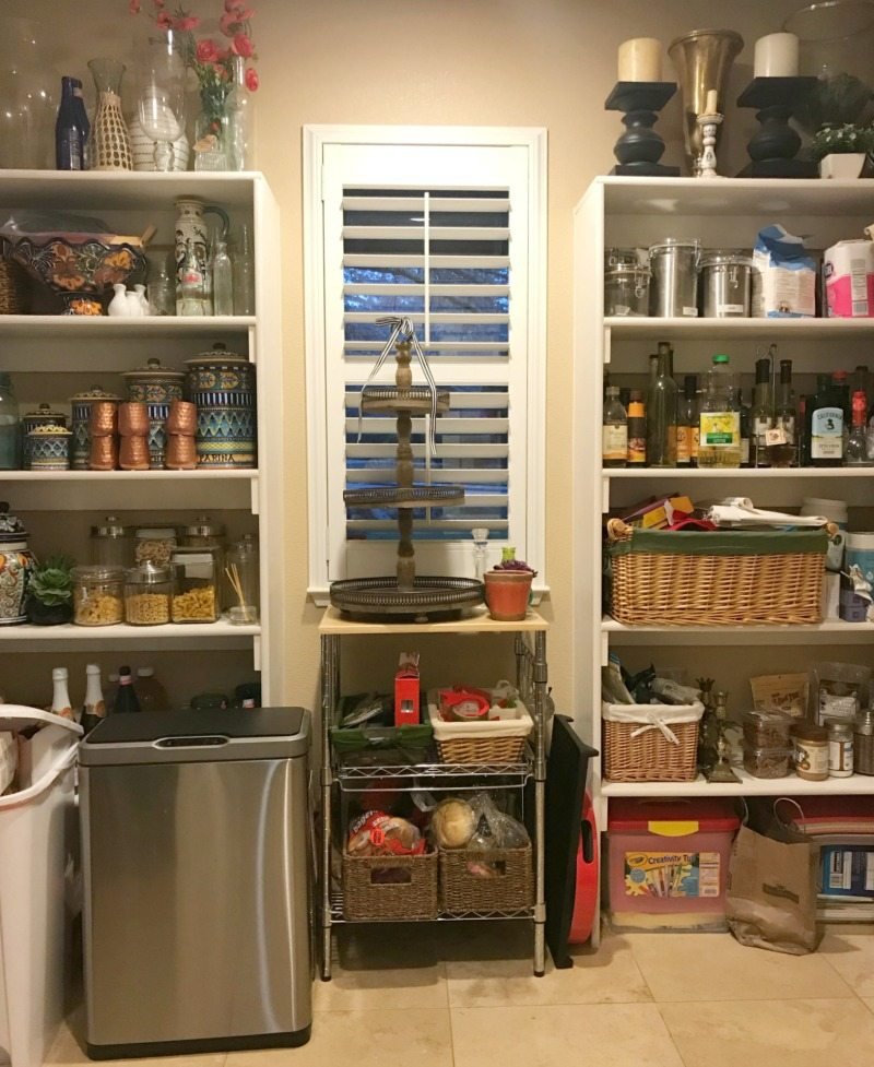 Organized pantry declutter