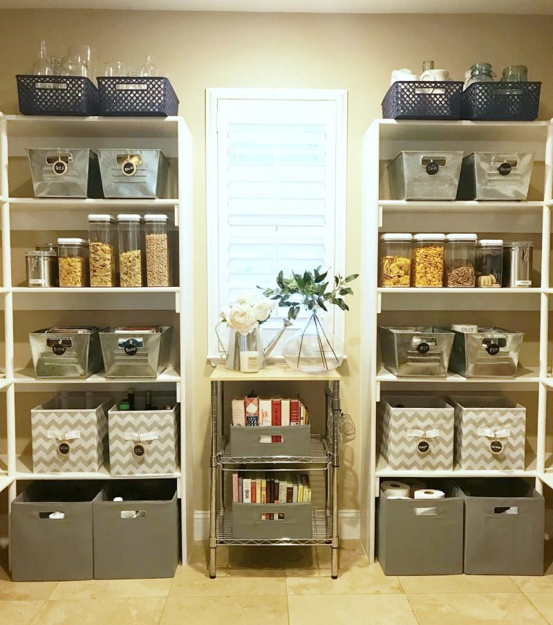 organized pantry reveal using Better Homes and Gardens storage solutions
