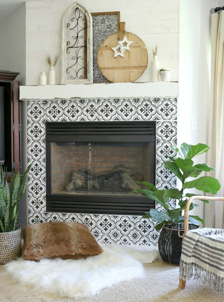 How To Get the Look of Expensive REAL Tile With A Stencil
