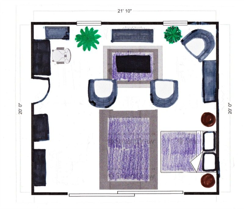use floor plans to make decor work