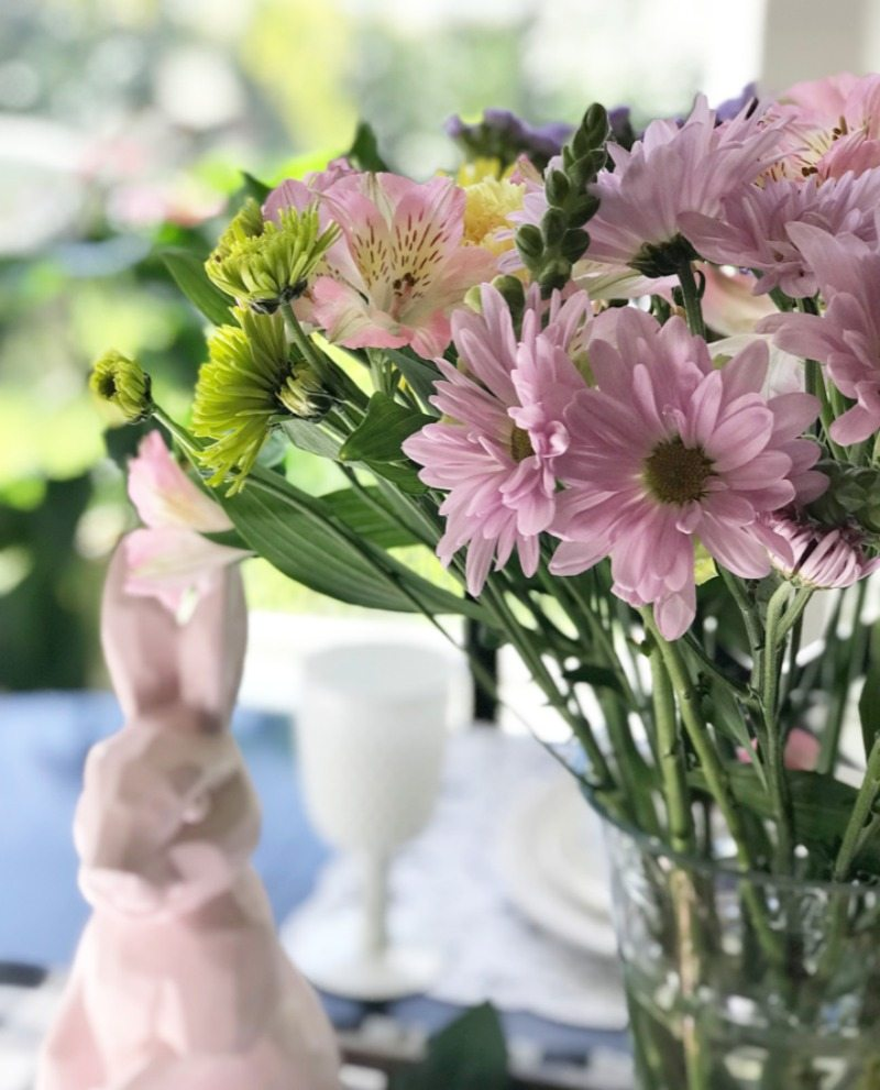 decorate with florals and bunnies