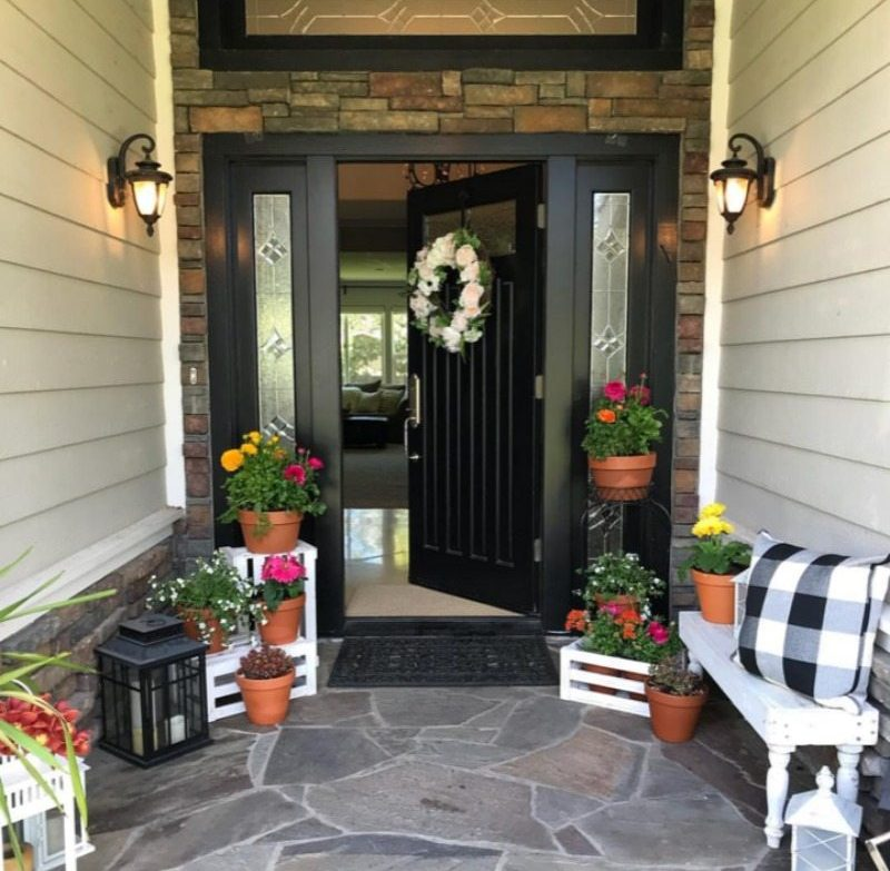 welcoming entryway perfect for spring