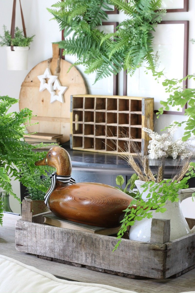 how to decorate for spring with greenery