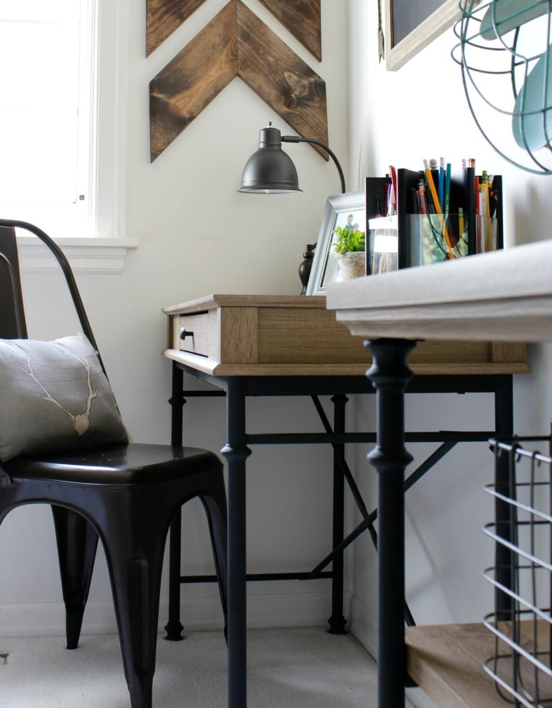 farmhouse style desk area
