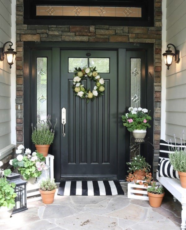 summertime decorating front door updates
