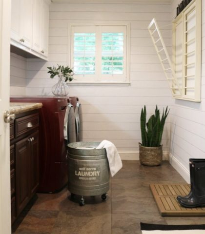 mudroom DIY laundry room