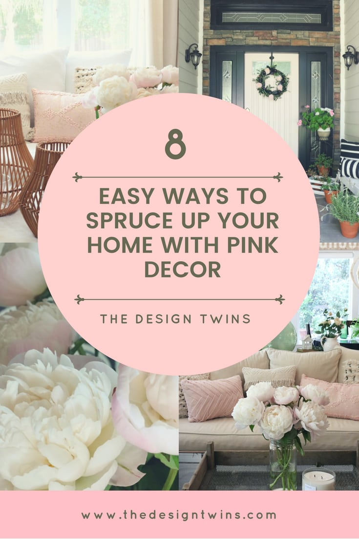 8 Easy Ways to Spruce Up Your Home with Pink Decor pin