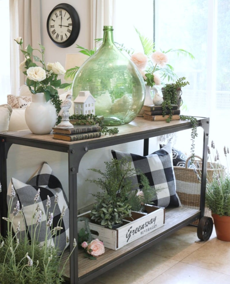 decorating tips pink decor with greenery and buffalo plaid