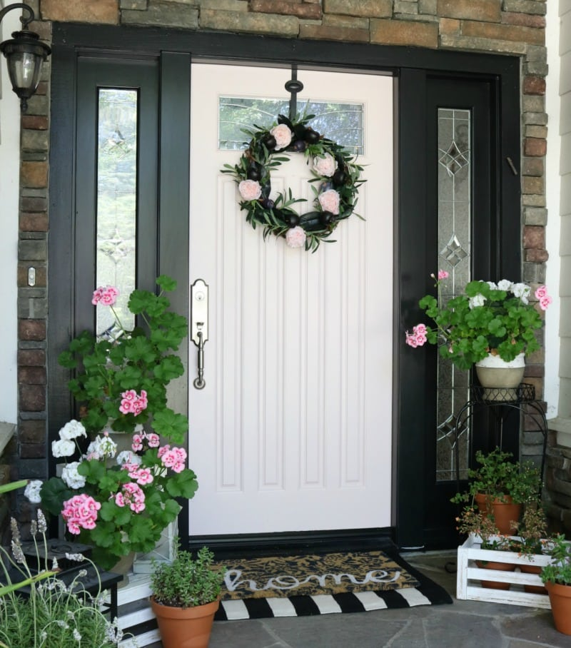 pink decor wreaths outdoor decor