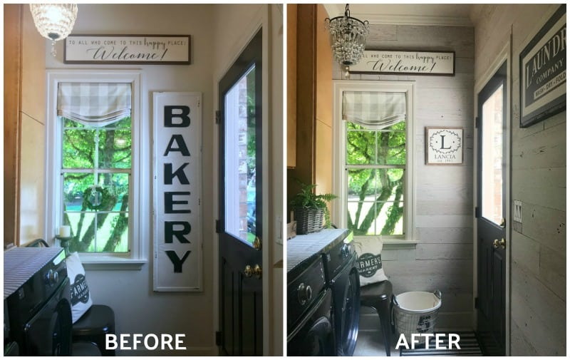 before & after barn wood wall