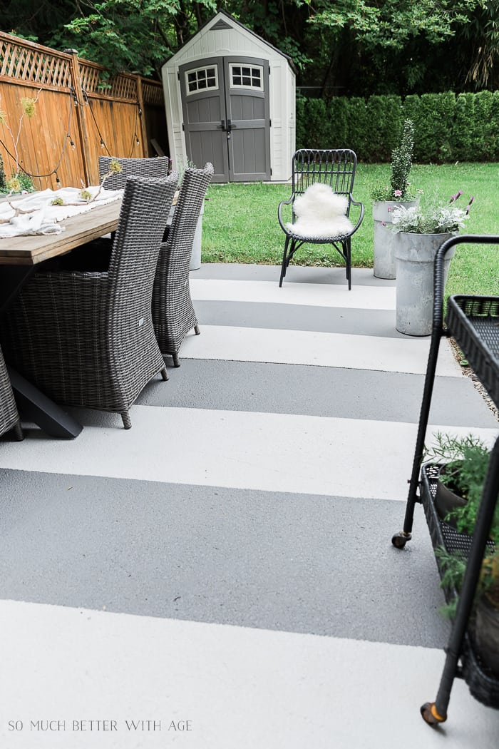 outdoor patio DIY project painting