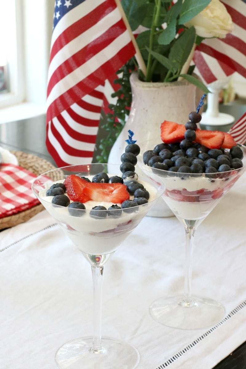healthy dessert July Tablescape