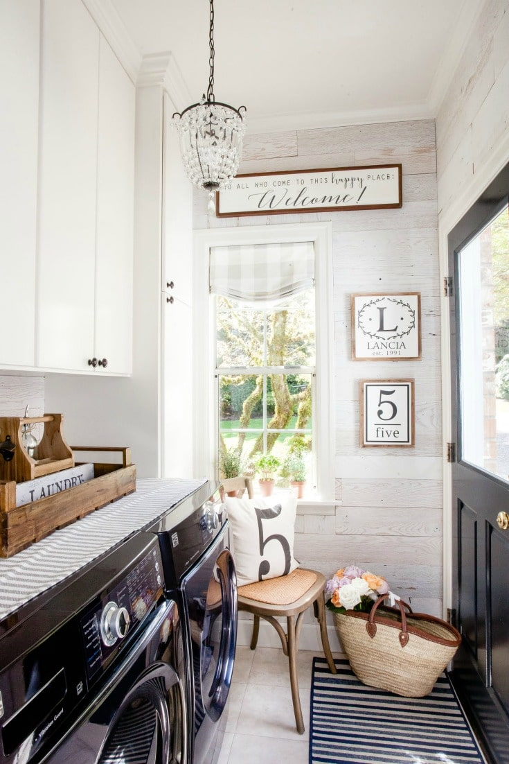 rustic farmhouse style with peel and stick barnwood