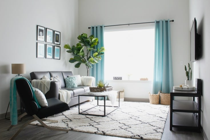 Affordable Modern Apartment Makeover