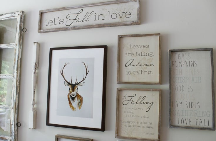 fall farmhouse signs gallery wall