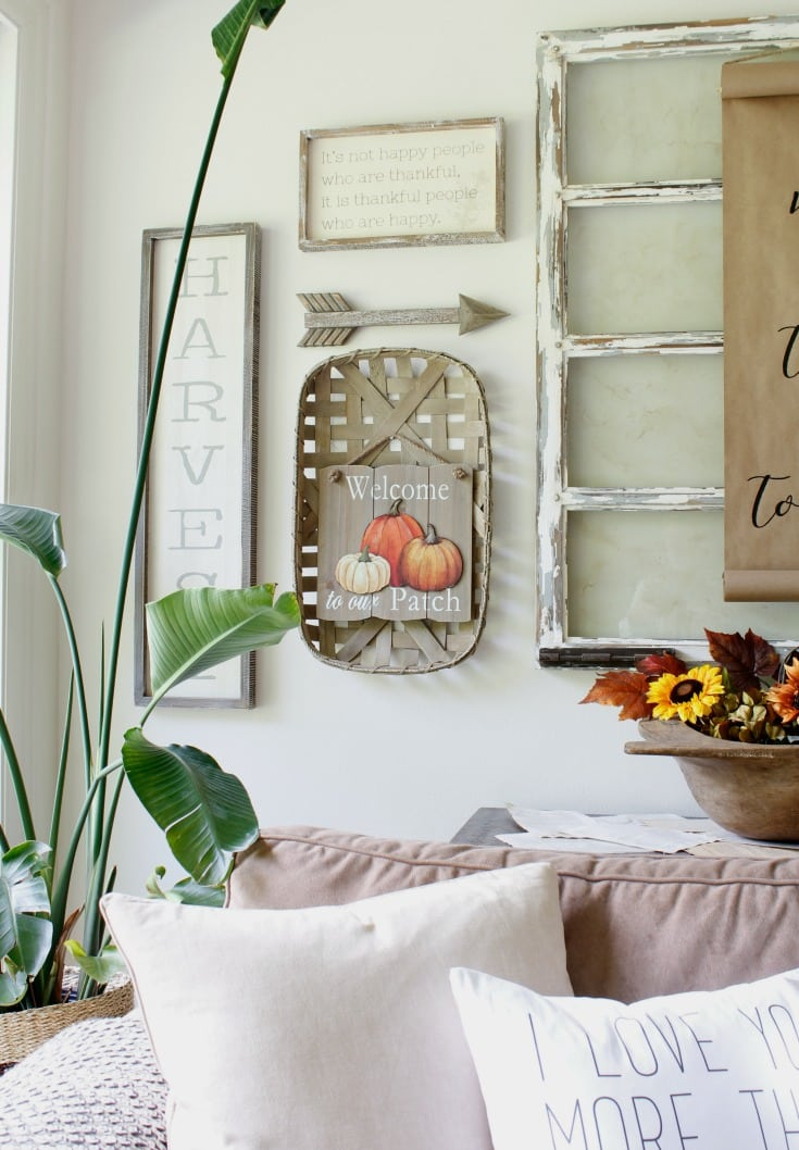 festive fall home gallery wall