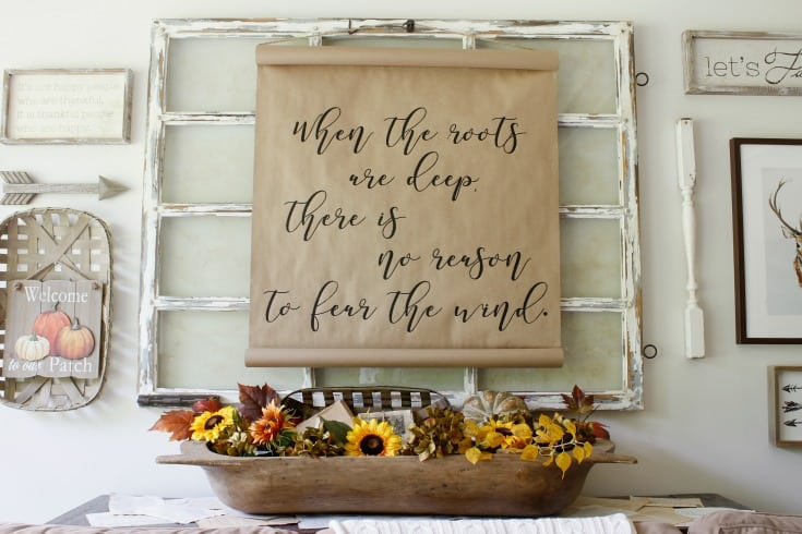 fall farmhouse gallery wall