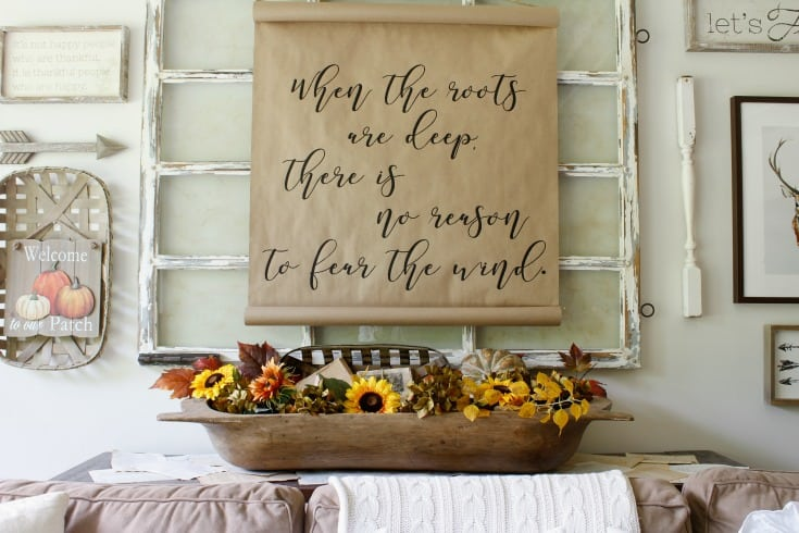 gallery wall farmhouse fall decor