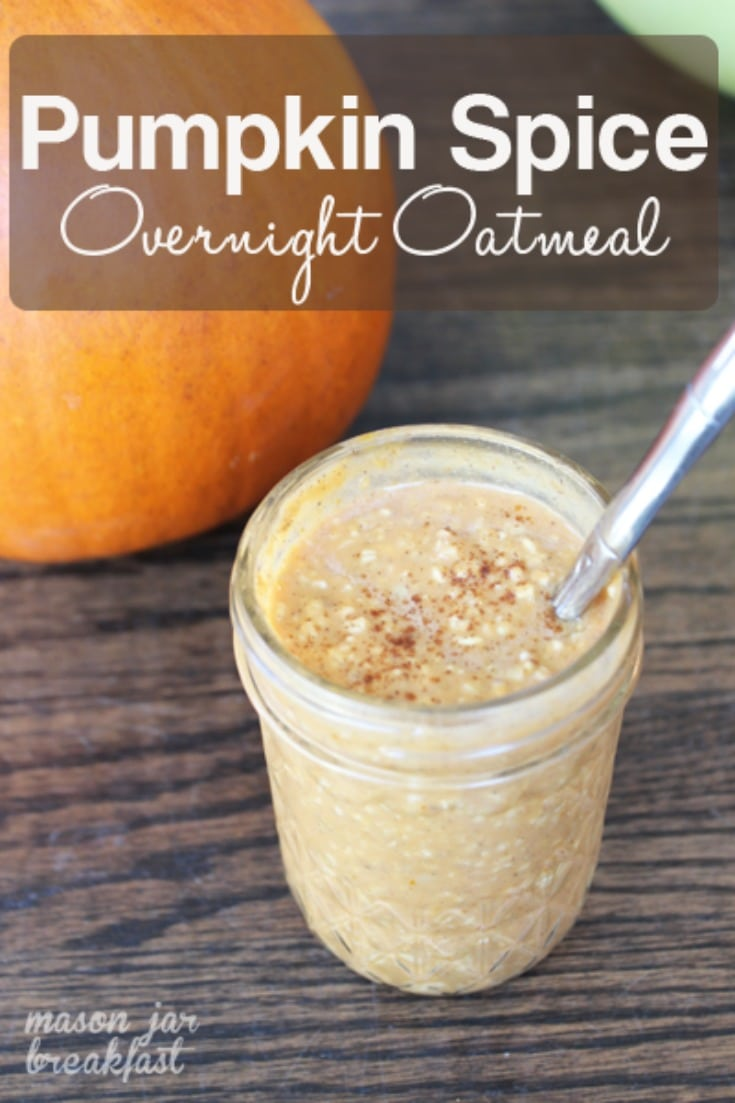 pumpkin spice overnight oats for healthy breakfast eating