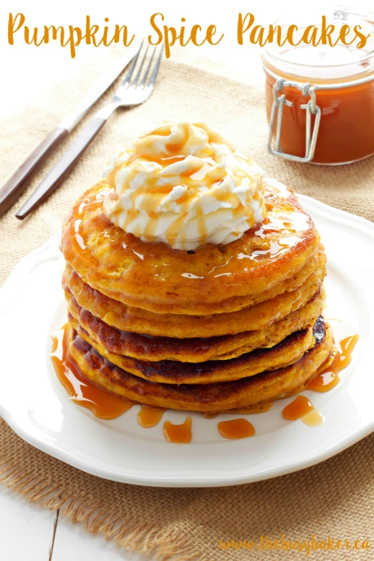 fall pancakes for treat breakfast or dessert