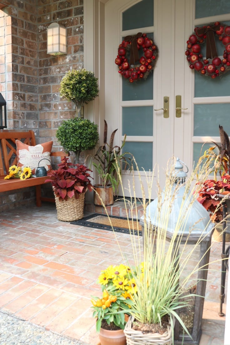 festive fall front porch