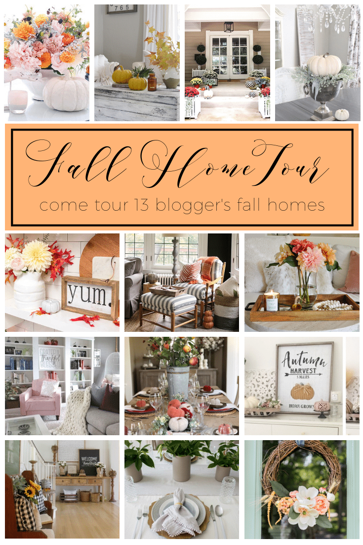 Festive Fall Home Tour blog hop pin