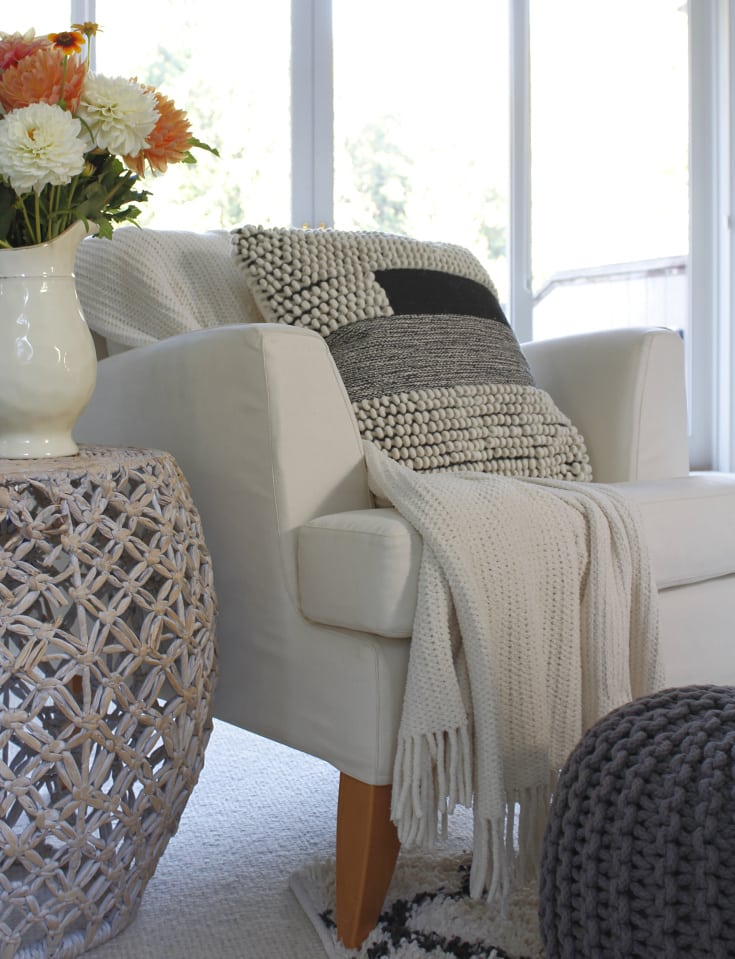 chic textured neutral pillow