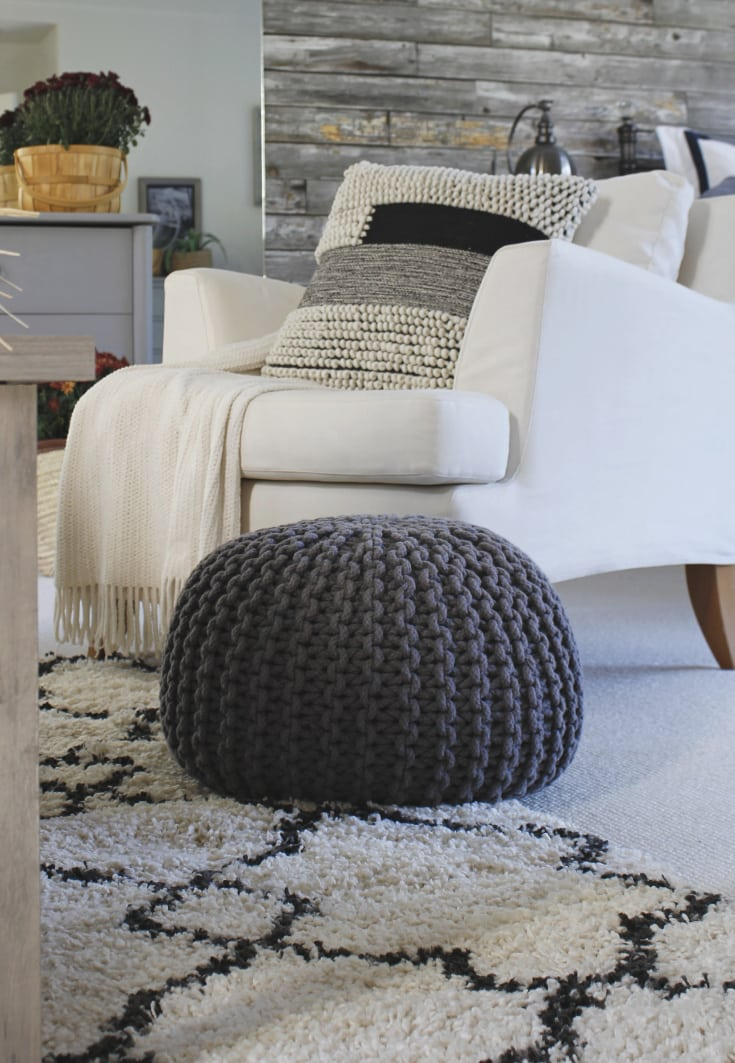 textured chic modern pillow