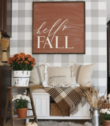 Cottage Cozy warm fall decor