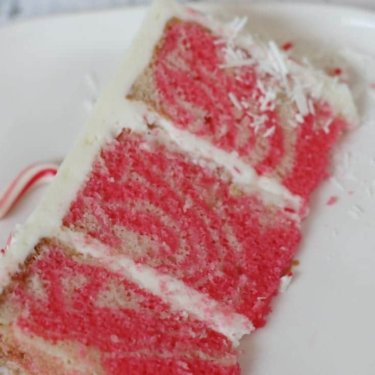 white peppermint holiday cake recipe