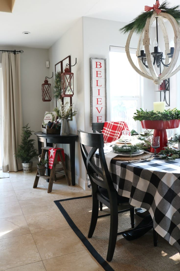 Christmas home kitchen table