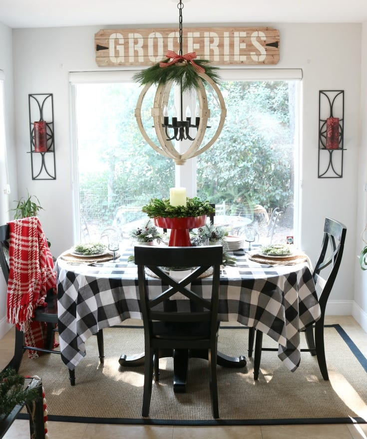 Christmas home kitchen table decor