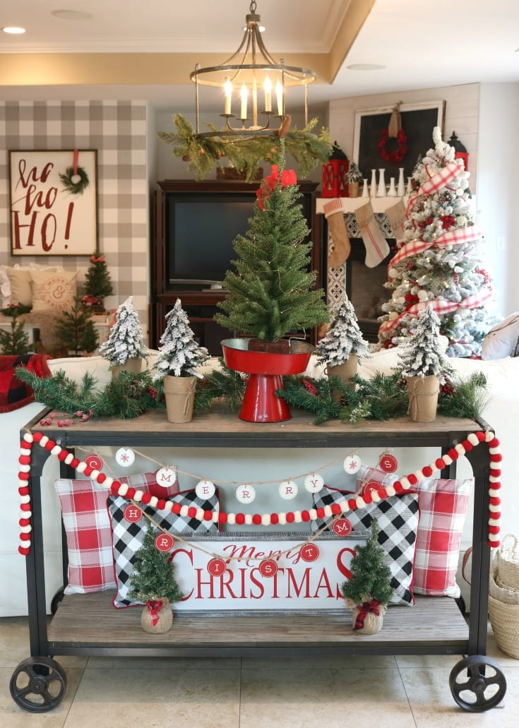 Christmas home tour festive family room