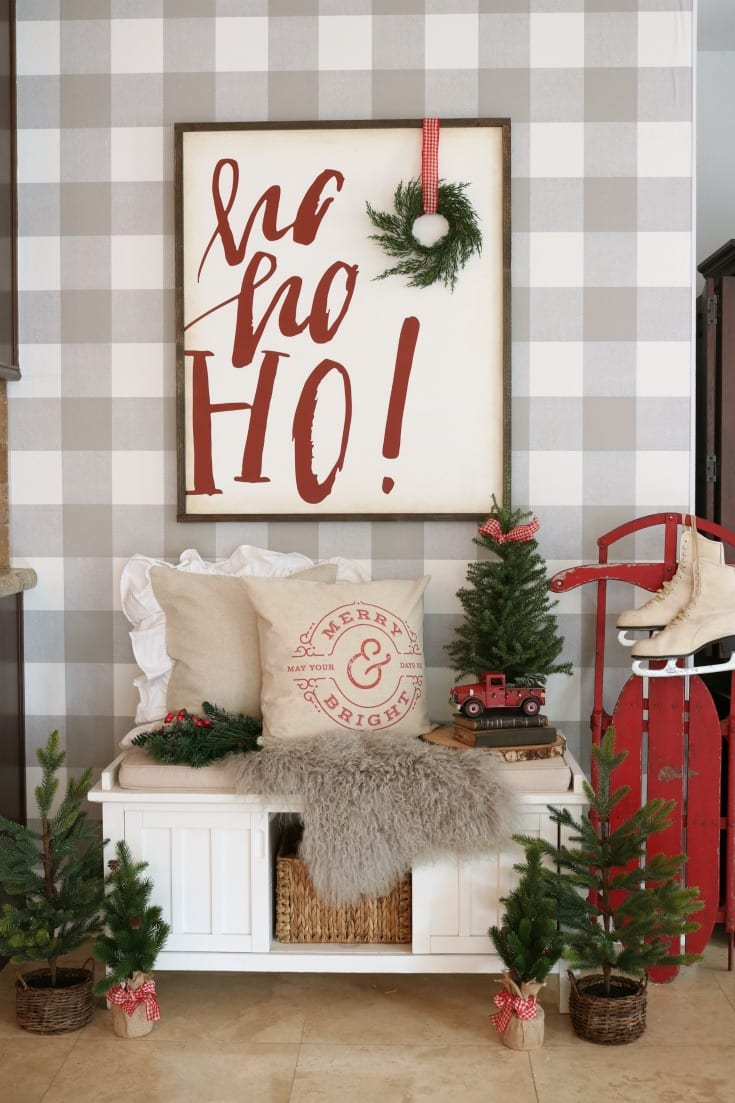 festive home tour Christmastime decor