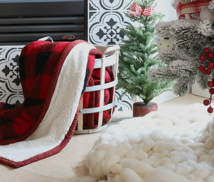 Christmas decorating with vintage red