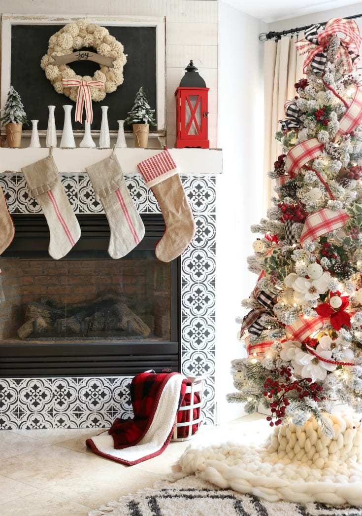 Christmas home tour festive tree decor