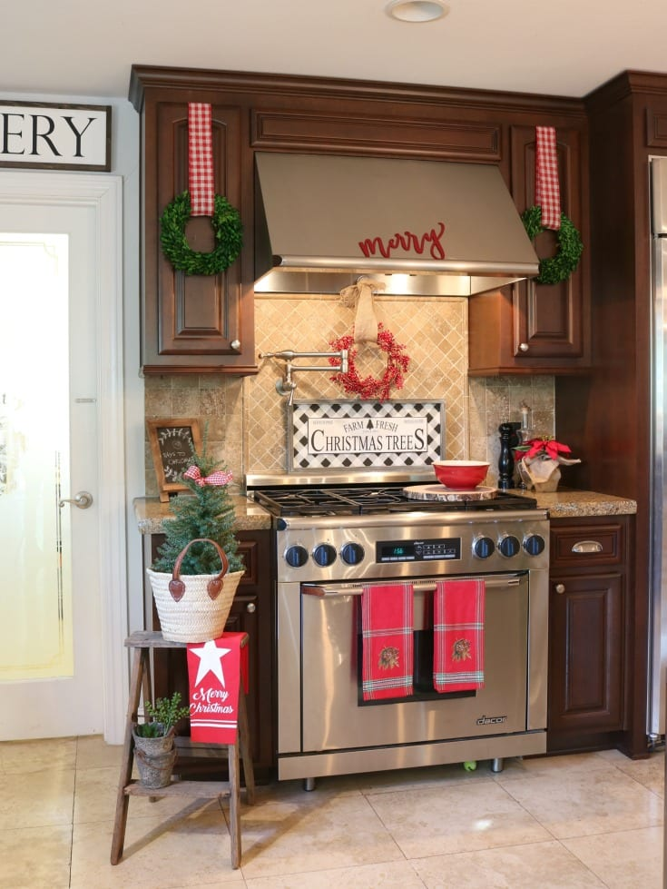 Christmas home tour festive kitchen