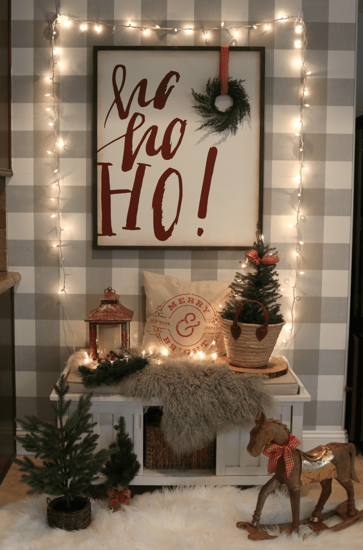 festive lights Christmas home tour